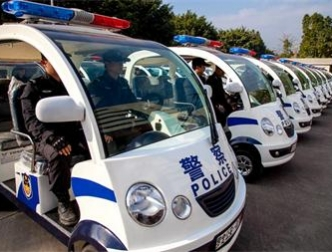 Luoding Public Security Bureau patrol electric vehicles delivered to the scene